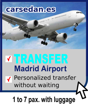 Madrid Airport. Book your transfer to the center of Madrid. Professional drivers in vehicles from 1 to 7 pax. with luggage. From € 39.00